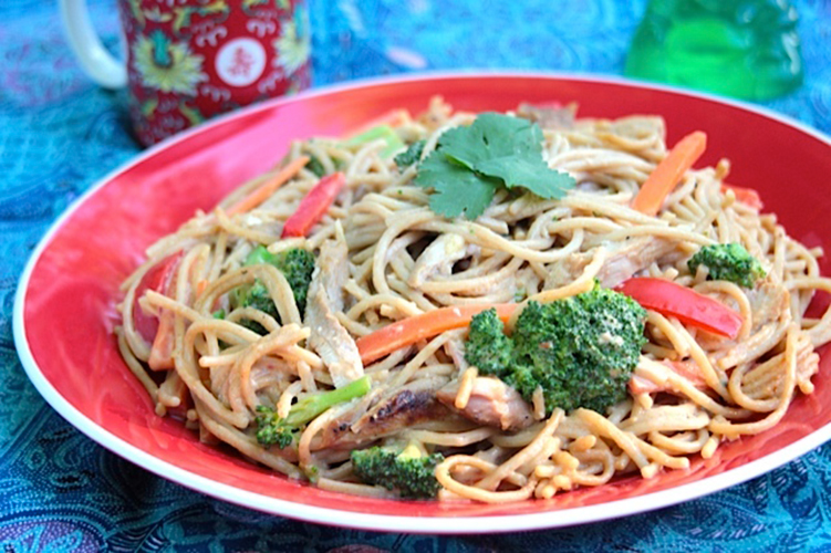 Published In Chinese Peanut Noodles with Turkey